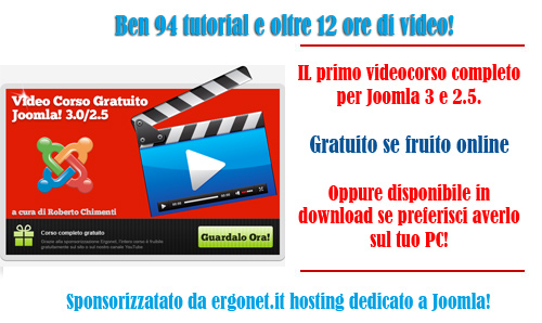Corso Joomla 2.5 e 3..